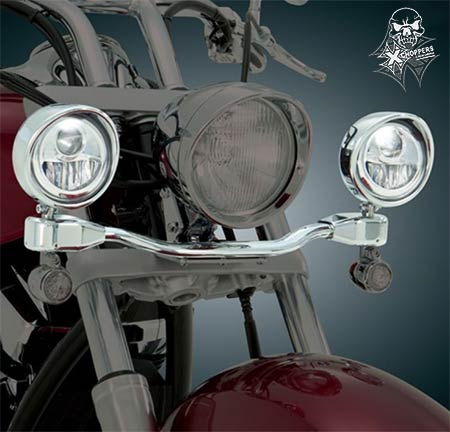 "Big Bike Parts Elliptical 3.5"" LED Driving Lights - All VTX"