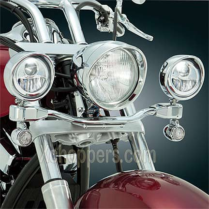 "Big Bike Parts 3 1/2"" LED Elliptical Driving Lights - VT1300"