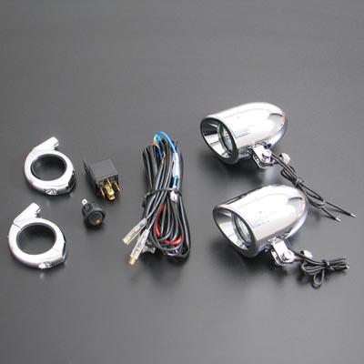Big Bike Parts 39-41mm Fork Mount 50 watt DRIVING LIGHTS KIT