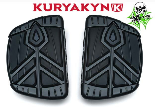 Kuryakyn Satin Black Spear Mini Boards without adapters (pr)