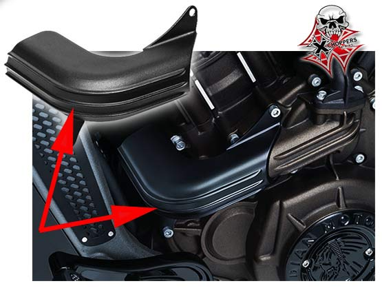 Kuryakyn Coolant Hose Cover - Indian Scout, BLACK