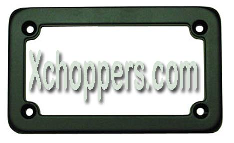 "Signal Dynamics License Plate Frame Classic Black Standard ""CXS"""