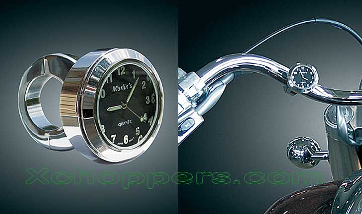 Marlins Black Handlebar Mount Clock (ea)