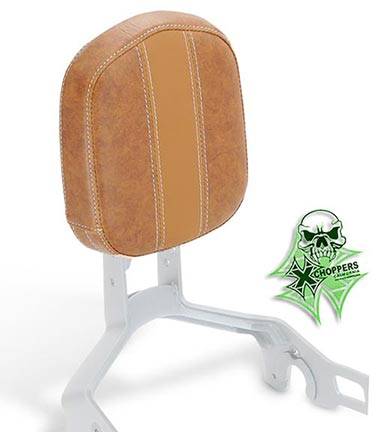 Mustang Vintage Sissy Bar Pad, Brown Vinyl - Indian Scout