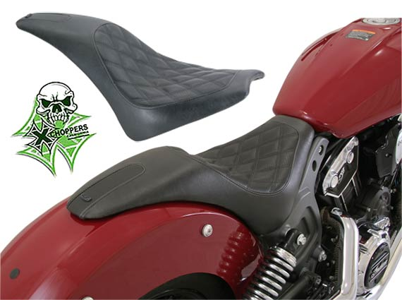 Roland Sands Boss 2-Up Seat For Indian Scout 2015-2016 - Black