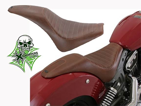 Roland Sands Enzo 2-Up Seat For Indian Scout 2015-2016 - Brown