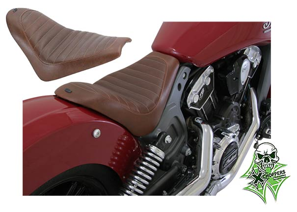 Roland Sands Enzo Solo Seat For Indian Scout 2015-2016 - Brown