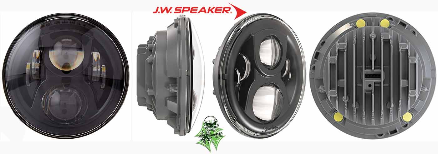 J.W. Speaker 8700 Evolution 2 LED Headlight (7 Inch) Black