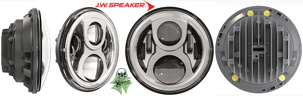 J.W. Speaker 8700 Evolution 2 LED Headlight (7 Inch) Chrome