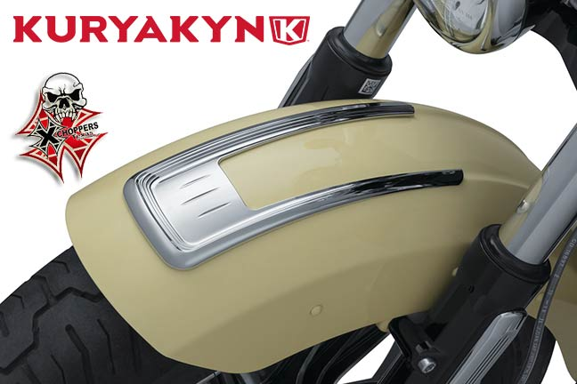 Kuryakyn Legacy Front Fender Top Accent for Indian Scout, Chrome