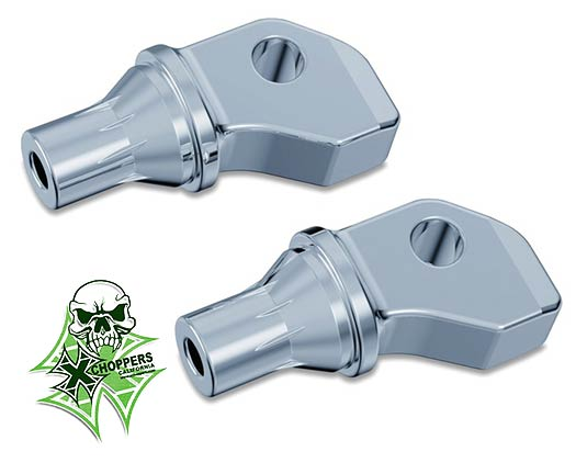 Kuryakyn Indian Scout Tapered Foot Peg Adapters - Front