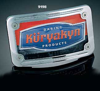 Kuryakyn Curved Tip-Back License Plate Frame (ea)