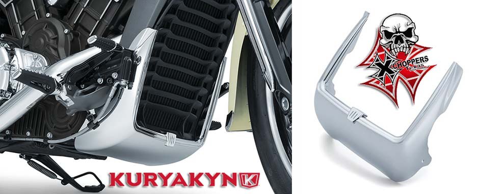 Kuryakyn Legacy Radiator Shroud Accent for Indian Scout, Chrome