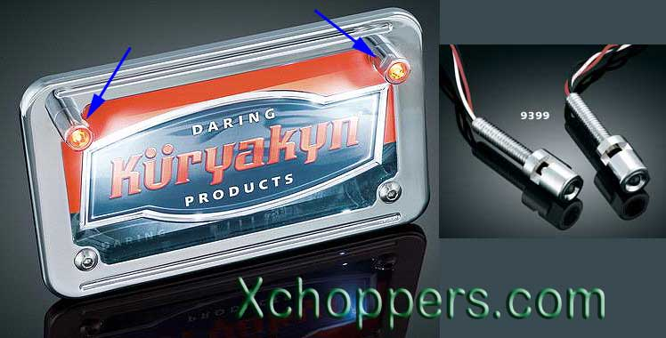 Kuryakyn LED License Plate Bolt Lights - with Red & Clear Lights