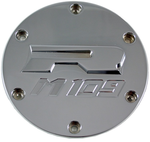 "Yana Shiki Chrome Derby Cover for M109 (06+) - ""M109"" Style"