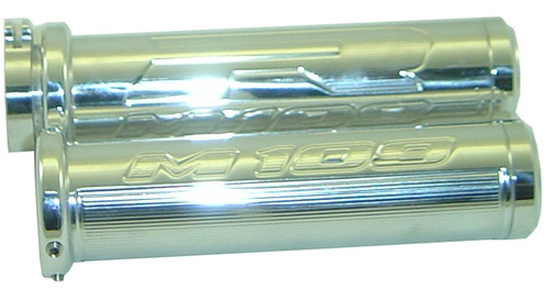 POLISHED SUZUKI M109 STRAIGHT GRIP SET WITH FLAT ENDS
