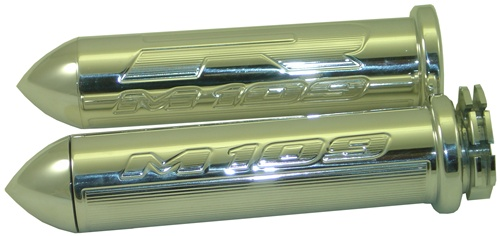 POLISHED SUZUKI M109 STRAIGHT GRIP SET WITH POINTED ENDS