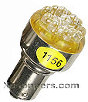 <B>XTec - AMBER (Yellow) 12 LED 1156 Replacement Bulb</B>