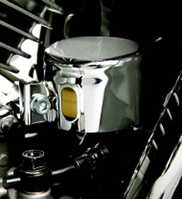 Big Bike Parts Chromed Rear Brake Reservoir Cover - VTX 1300