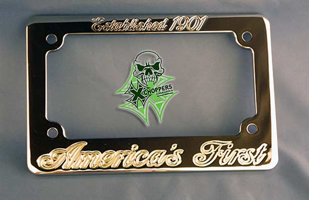 Aeromach Indian Chrome License Plate Frame