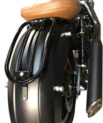 Highway Hawk Solo Rack Tubular Complete Black - Indian Scout