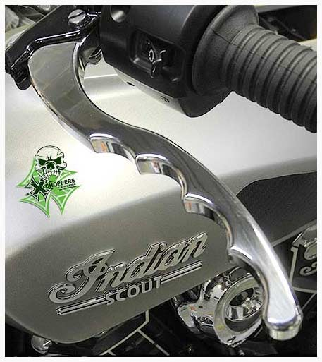 Aeromach Indian Scout/ Scout60  Pistol Grip Levers - Polished