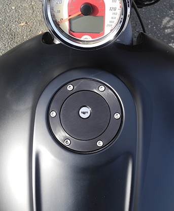 Aeromach Indian Scout Removable Gas Cap Black