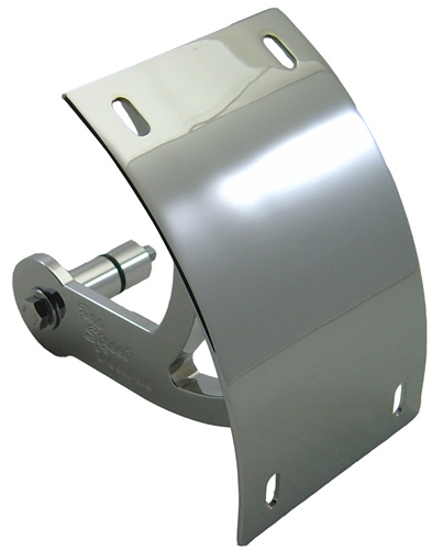 M109 '06+ LICENSE PLATE BRACKET FOR SWINGARM - TRIPLE CHROMED