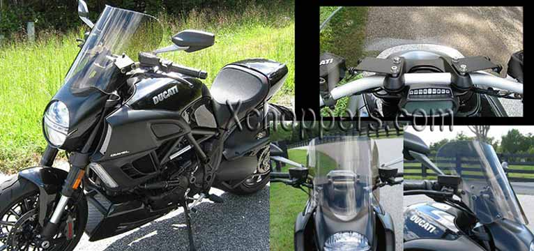 Parabellum Café Windshield for Ducati Diavel