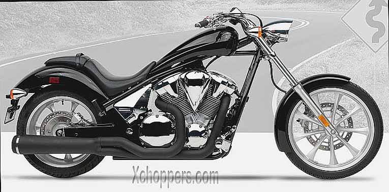 Hard Krome Black Velocity Pro for Honda Fury 2010+