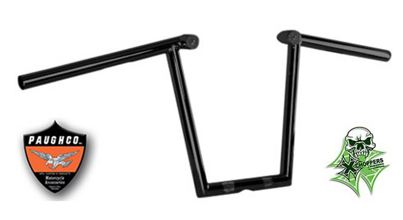 "Paughco 1"" Black Z Bars with LED Lights - 12"" Rise"