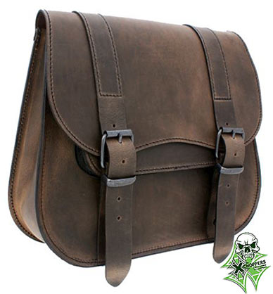 Ledrie Single sided saddlebag - Brown