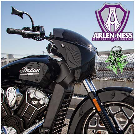 Arlen Ness Fairing For Indian Scout - Gloss Black