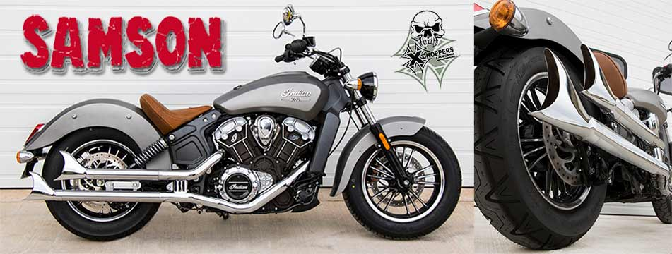 Samson Staggered Longtails for Indian Scout, Scout60