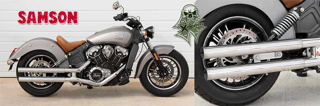 Samson Cannons for Indian Scout & Scout 60