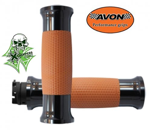Avon Indian Scout Air GEL Tan, Black Anodized Grips