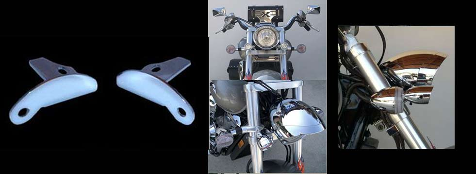 Kewl Metal Large Bullet Light Mount Bracket - VTX1800C&R/VTX1300