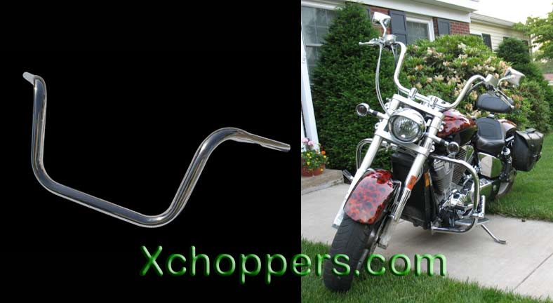 "LA Choppers HEFTY 1 1/4"" dia. 10"" Tall APE HANGER"