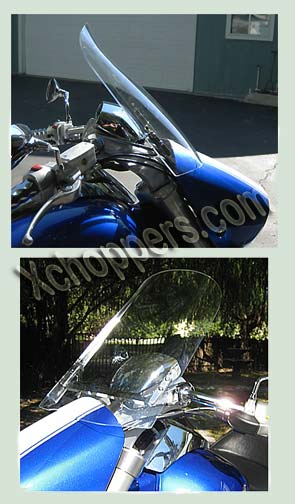 "Windvest - 16"" wide x 18"" tall Clear for Suzuki M109R & R2"