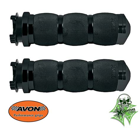 Avon Black Air Cushioned Grips -<B>Fits  Indian motorcycles</B>