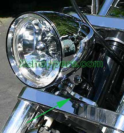 <B>VTX-Treme +2in Custom Headlight Mount - VTX w/Custom Light</B