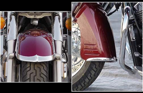 National Cycle Front Fender Tips, 2-piece - VTX 1800 Retro