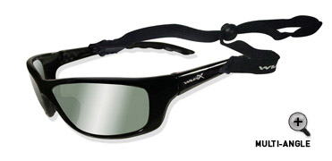 Wiley X POLARIZED SMOKE GREEN/GLOSS BLACK FRAME