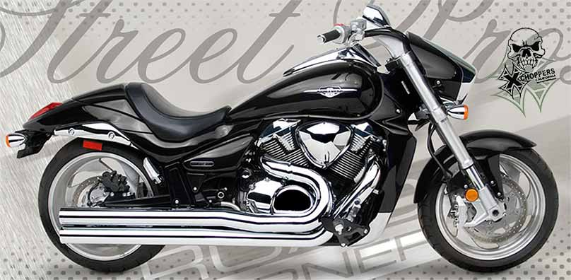 Hard Krome /Roadburner 3 inch Chrome Drag Pros - M109R