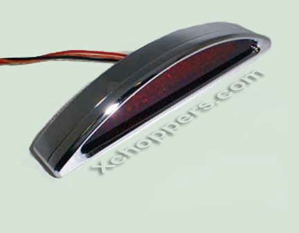 Radiantz - Billet LED Half Moon Flush Mount - Red Lens