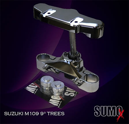 <B>Sumo-X +9 Degree Raked Triple Trees - M109R (26&quot;+ whl. reqd.)