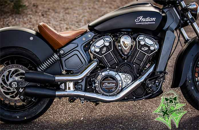 Trask Indian Scout Slip-On Exhaust - Black or Chrome