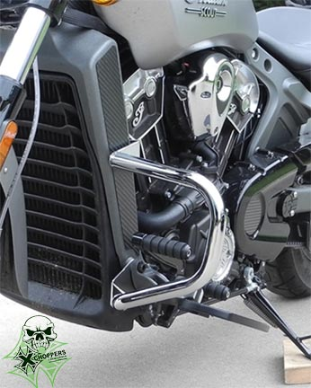 Aeromach 2015+ Indian Scout Freeway Bars - Chrome