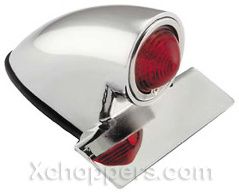 Chrome Sparto Retro / Bobber Tail Light