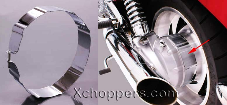 Rivco Triumph Rocket III Chrome Differential Ring